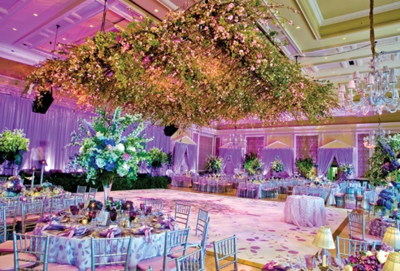 Pink And Purple Hanging Wedding Decor Ideas