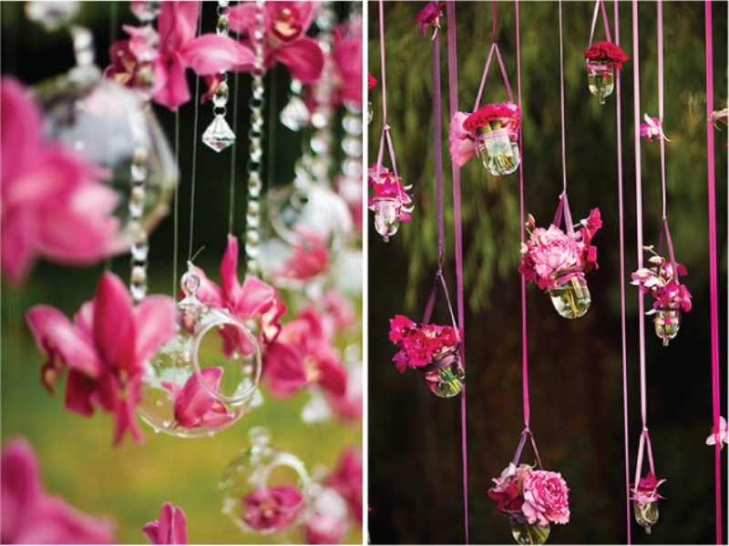 24 Inspiring Pink And Purple Hanging Wedding Decor Ideas