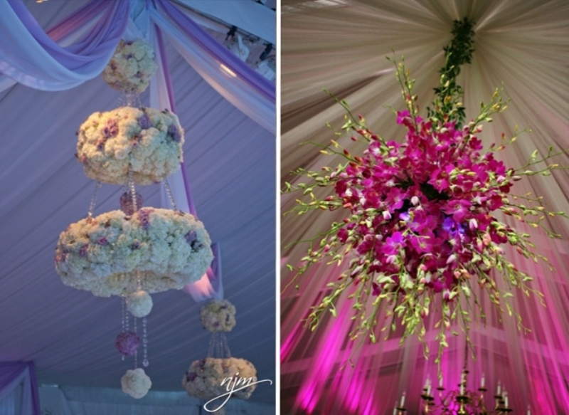 24 inspiring pink and purple hanging wedding decor ideas weddingomania pink and purple hanging wedding decor ideas junglespirit Image collections