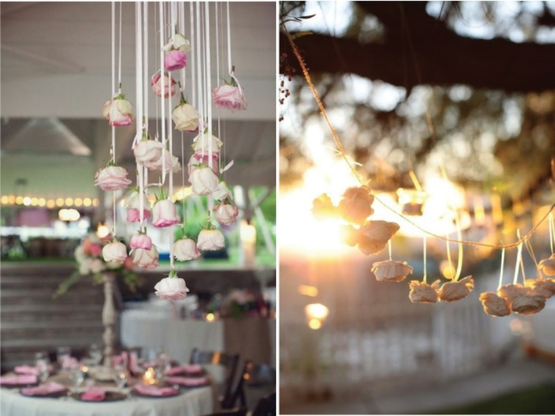 Picture of pink and purple hanging wedding decor ideas junglespirit Gallery
