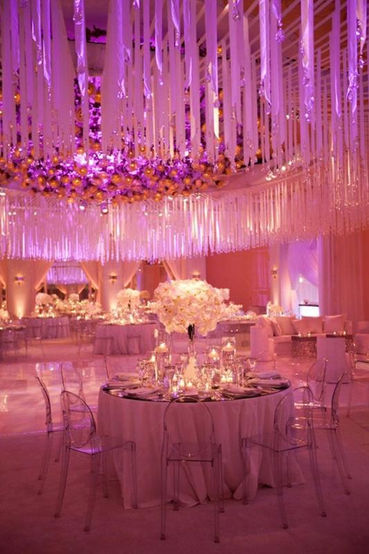 Purple and pink wedding decoration ideas elitflat picture of pink and purple hanging wedding decor ideas junglespirit Image collections
