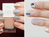 mismatching patterned nails in pastel colors are stylish and quirky, these are soft colors but a catchy look with a pattern