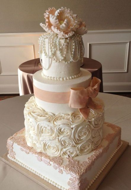 Of Adorable Bow Wedding Cakes 15