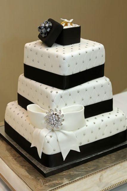 Adorable Bow Wedding Cakes24 (2)