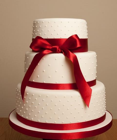 Adorable And Elegant Bow Wedding Cakes