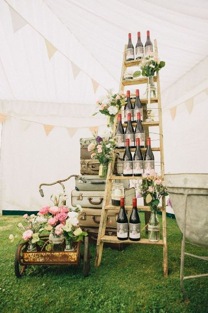 Picture Of Awesome Ways To Incorporate Ladders Into Your Wedding 15