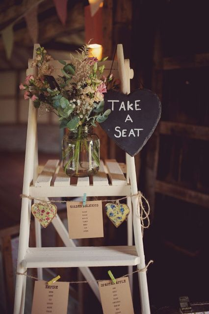 Picture Of Awesome Ways To Incorporate Ladders Into Your Wedding 17