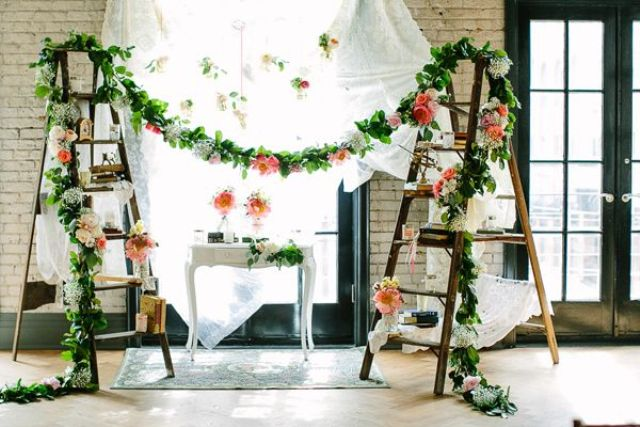 Picture Of Awesome Ways To Incorporate Ladders Into Your Wedding 25