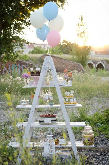 Picture Of Awesome Ways To Incorporate Ladders Into Your Wedding 4
