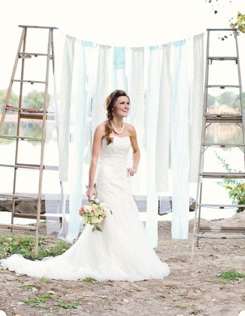 Picture Of Awesome Ways To Incorporate Ladders Into Your Wedding 9