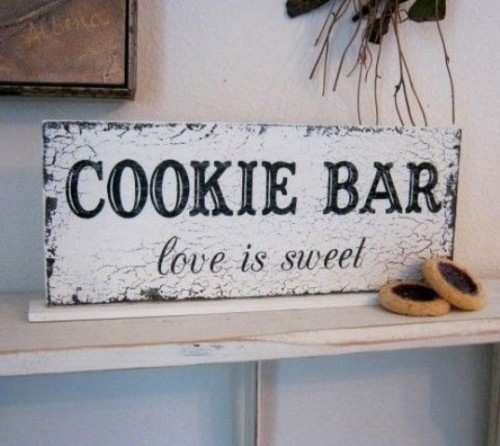mark your cookie bar with a large sign like this one, it may be easily DIYed