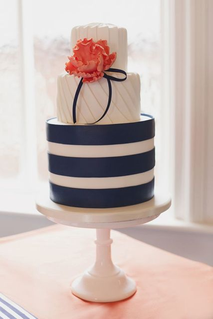 Picture Of Elegant Striped Wedding Cakes 10