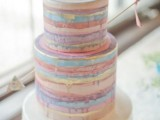 25 Elegant Striped Wedding Cakes11