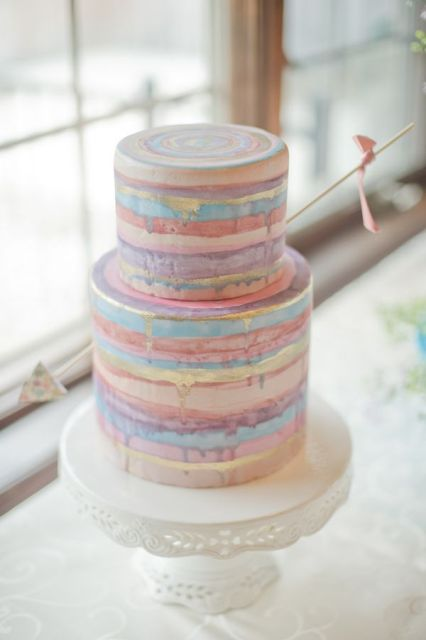Picture Of Elegant Striped Wedding Cakes 11