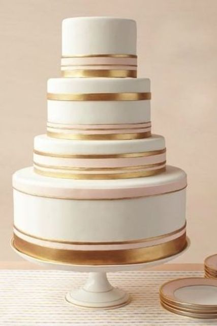 Picture Of Elegant Striped Wedding Cakes 12