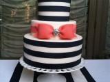 25 Elegant Striped Wedding Cakes14