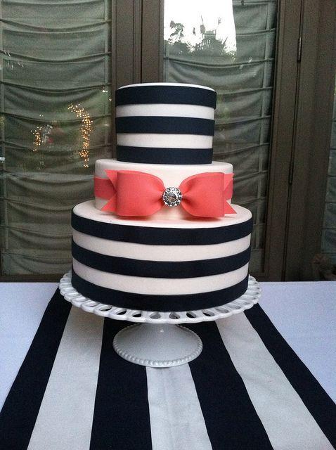 Picture Of Elegant Striped Wedding Cakes 14