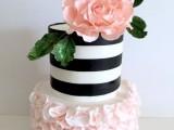 25 Elegant Striped Wedding Cakes20