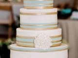 25 Elegant Striped Wedding Cakes21