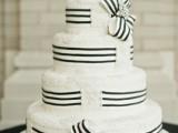 25 Elegant Striped Wedding Cakes23