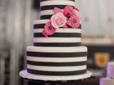 25 Elegant Striped Wedding Cakes24