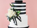 25 Elegant Striped Wedding Cakes5