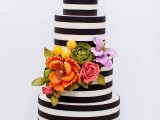 25 Elegant Striped Wedding Cakes7