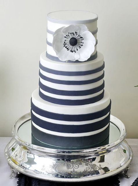 Picture Of Elegant Striped Wedding Cakes 8