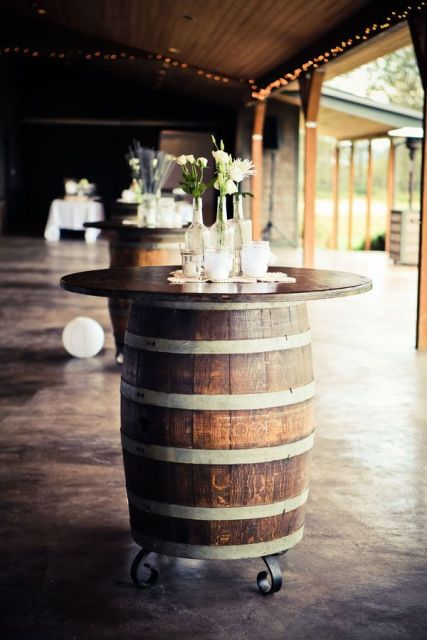 Picture Of Lovely Ideas To Use Wine Barrels At Your Wedding 2
