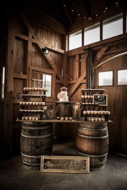 Picture Of Lovely Ideas To Use Wine Barrels At Your Wedding 5