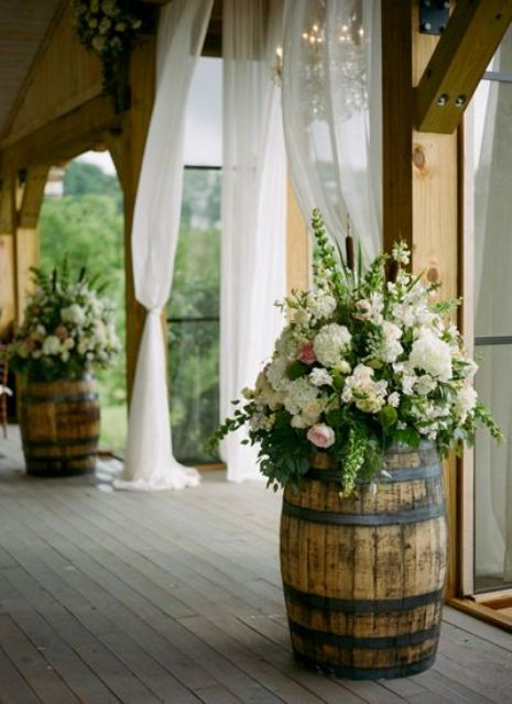 Picture Of Lovely Ideas To Use Wine Barrels At Your Wedding 8