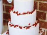 25 Winter Wedding Cakes With Berries12