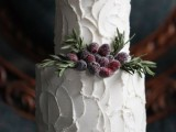 25 Winter Wedding Cakes With Berries13