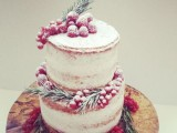25 Winter Wedding Cakes With Berries17