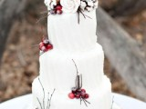 25 Winter Wedding Cakes With Berries18
