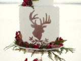 25 Winter Wedding Cakes With Berries21