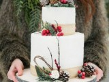 25 Winter Wedding Cakes With Berries22