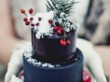 25 Winter Wedding Cakes With Berries23