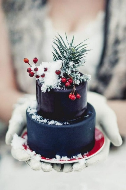 Picture Of Winter Wedding Cakes With Berries 23