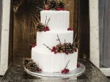 25 Winter Wedding Cakes With Berries4