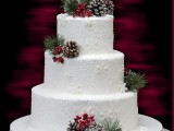 25 Winter Wedding Cakes With Berries5