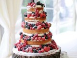 25 Winter Wedding Cakes With Berries7