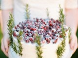 25 Winter Wedding Cakes With Berries8