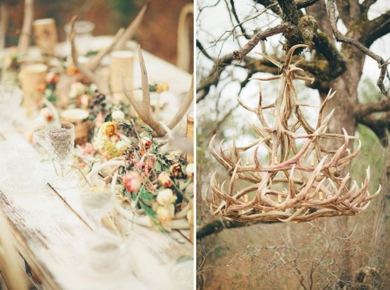 Merveilleux Picture Of Amazing Antlers Decor Ideas For Your Winter Wedding