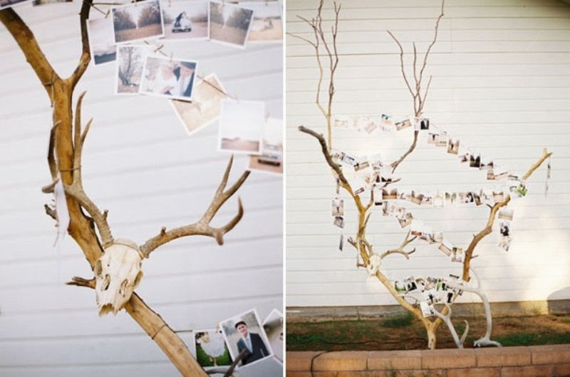 Picture of amazing antlers decor ideas for your winter wedding for Antler decorations for home