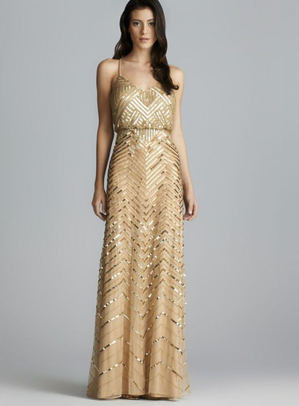 Picture Of breathtaking gatsby glam wedding dresses  12