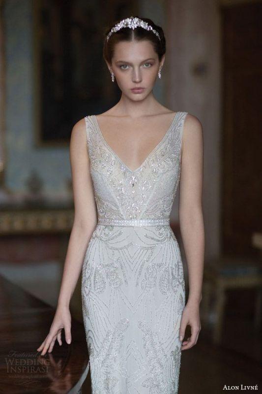 Art Deco Wedding Dress 60 Marvelous Breathtaking Gatsby Glam Wedding