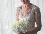 a gorgeous 1920s wedding dress with a slip plain gown and a fully embellished overdress for a romantic Gatsby look