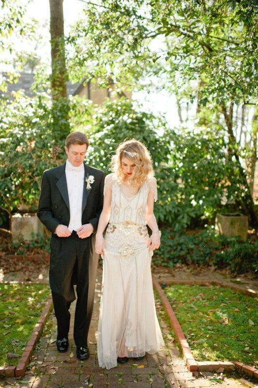 Picture Of breathtaking gatsby glam wedding dresses  22