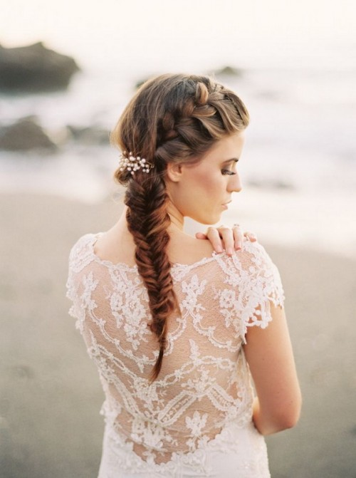 25 Awesome Bridal Fishtail Braids To Get Inspired